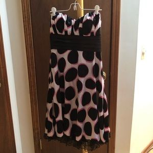 Speechless white/black/pink spotted dress